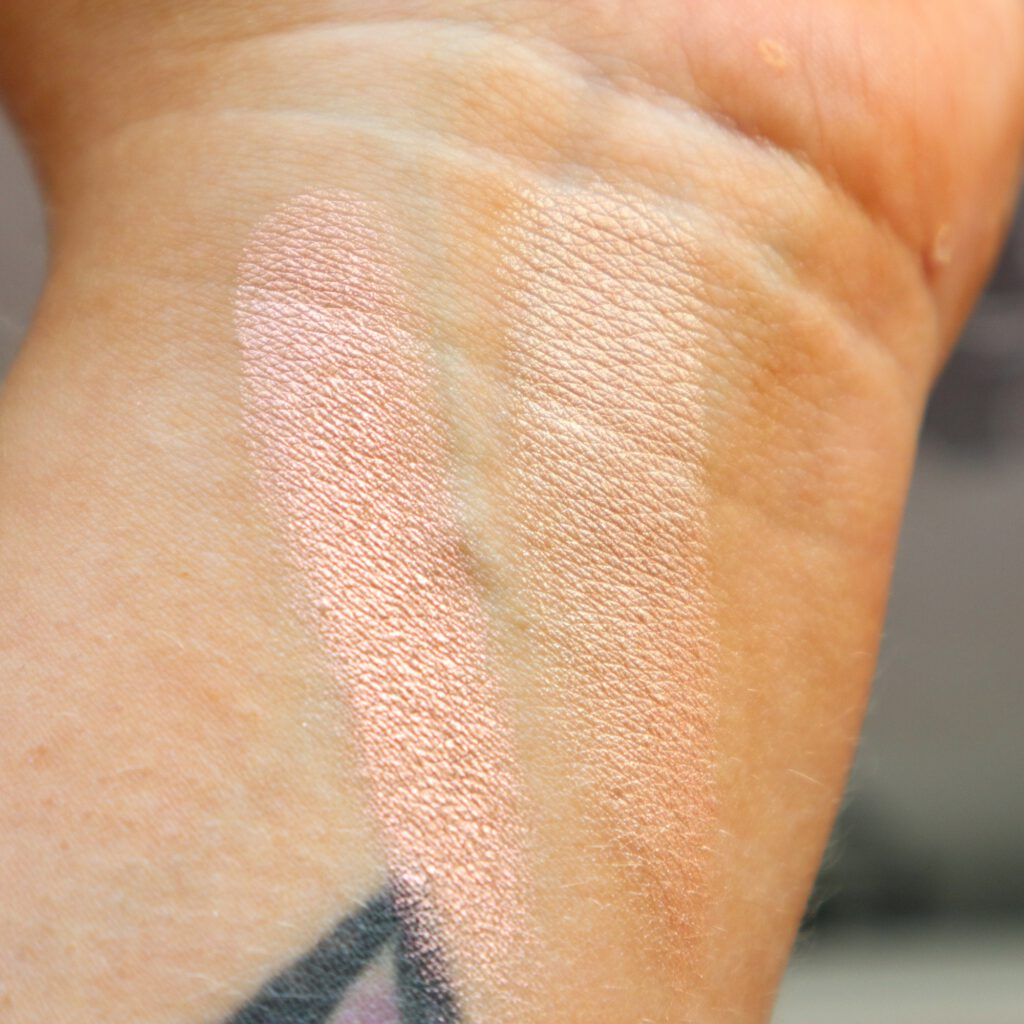 Glow in bloom highlighter swatch
