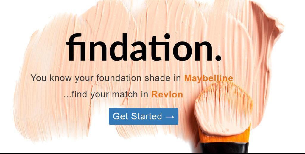 Findation auttaa tilaamaan oikeat sävyt kun tilaat kosmetiikkaa netistä