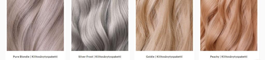 Vivahde Hair kiiltosävypaketit ovat valmiita värisekoituksia